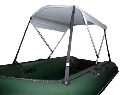 Солнцезащитный тент для лодки своими руками 6