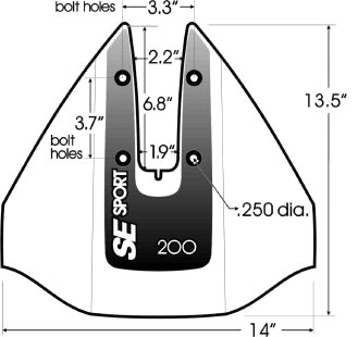 Габаритный чертеж SE Sport 200